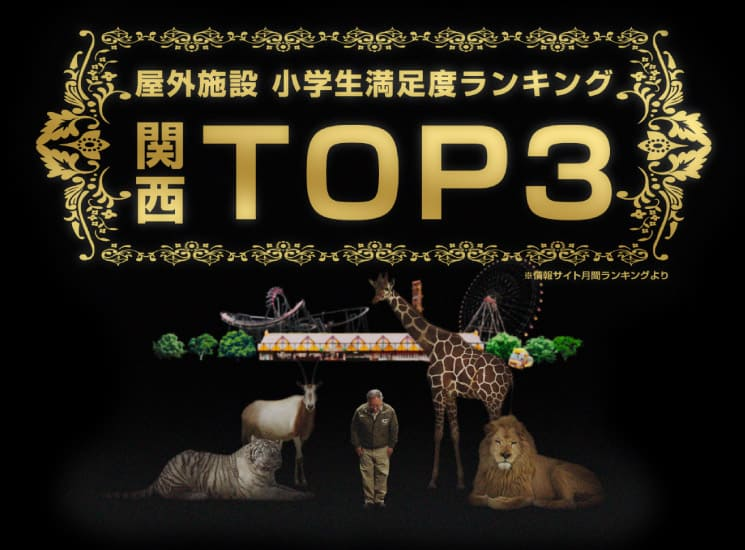 屋外施設小学生満足度ランキング関西TOP3